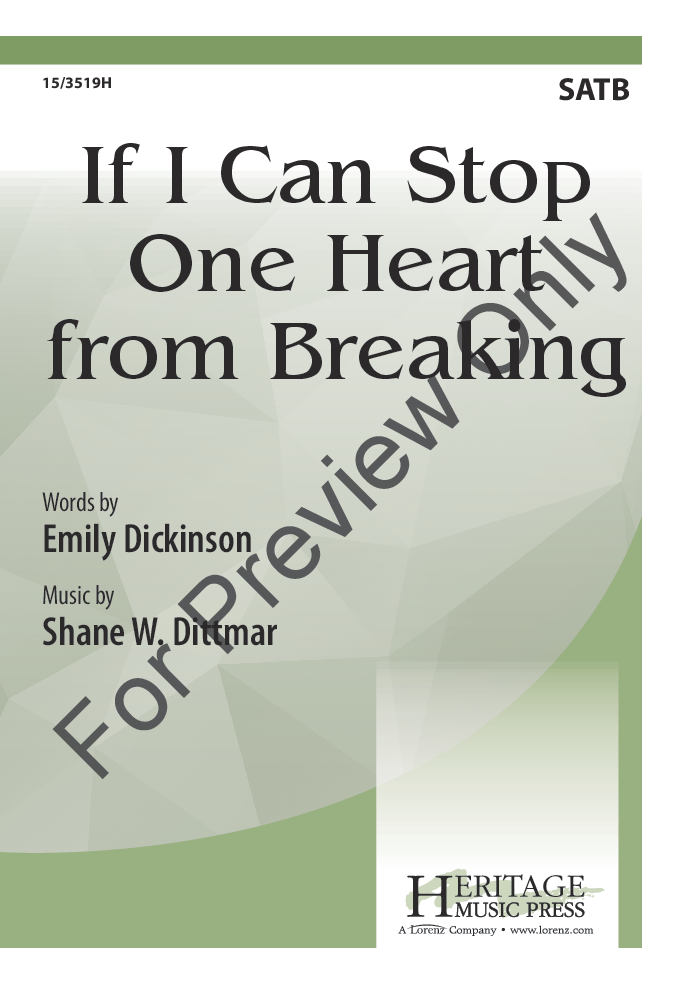 If I Can Stop One Heart from Breaking Thumbnail