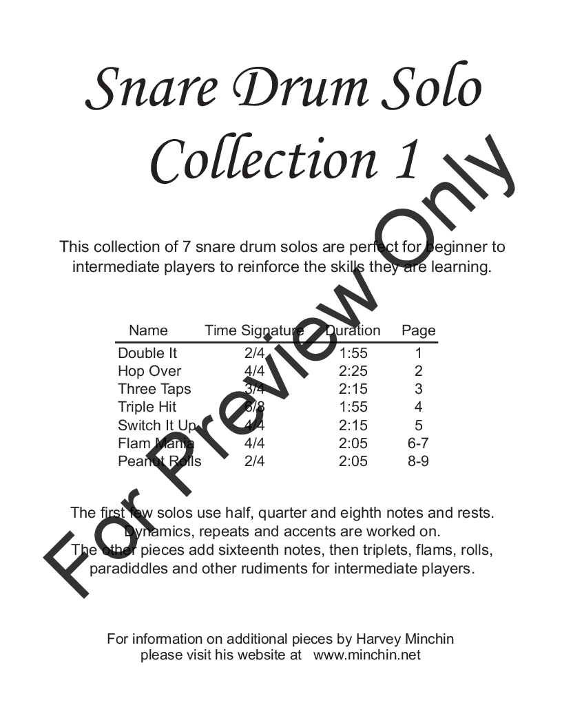 Snare Drum Solo Collection 1 Thumbnail