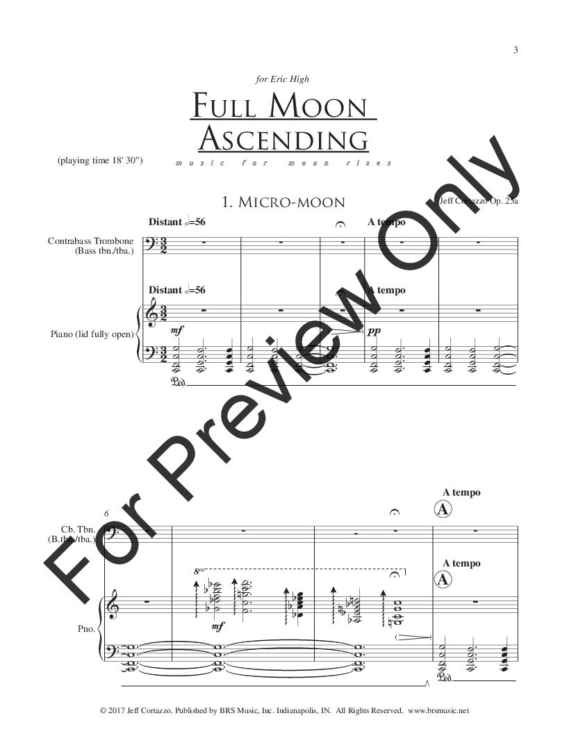 Full Moon Ascending, Op  25A (Bass Trombone   J W  Pepper