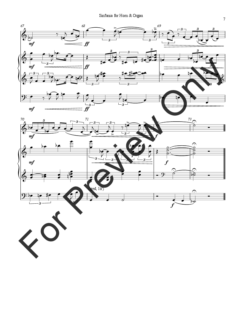 Sinfonia for Horn and Organ Thumbnail