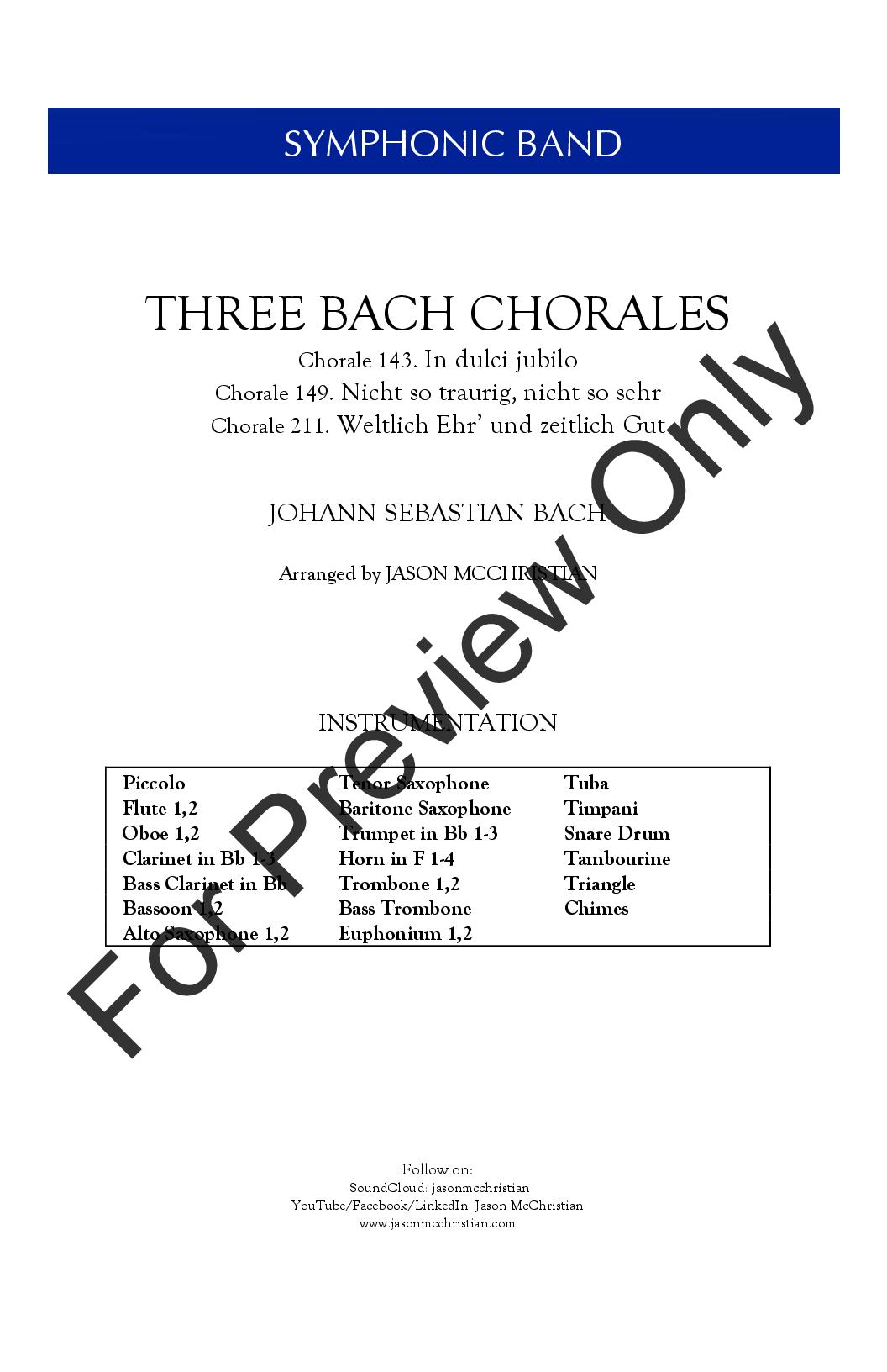 Three Bach Chorales Thumbnail