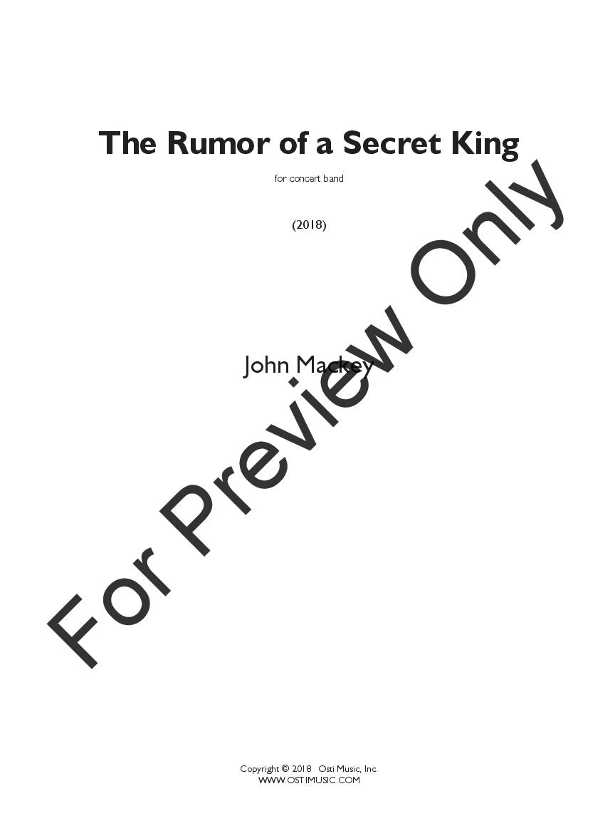 The Rumor of a Secret King Thumbnail