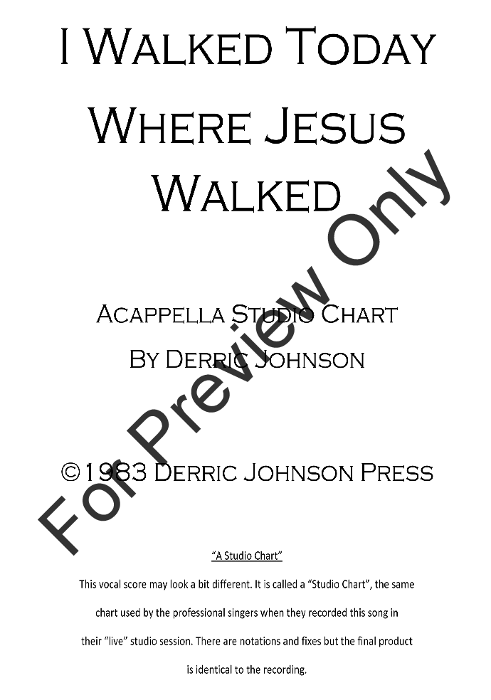 I Walked Today Where Jesus Walked Thumbnail