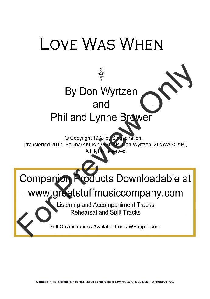 Love Was When Thumbnail