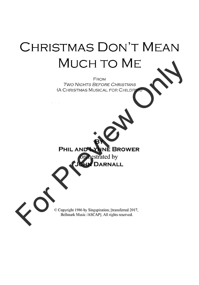 Christmas Don't Mean Much to Me Thumbnail