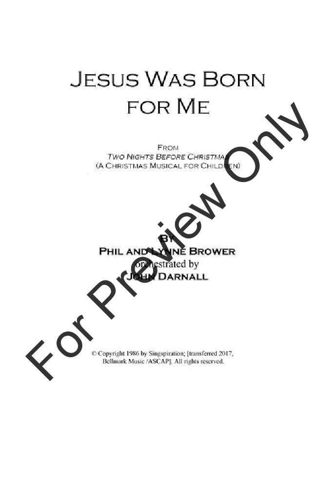 Jesus Was Born for Me Thumbnail