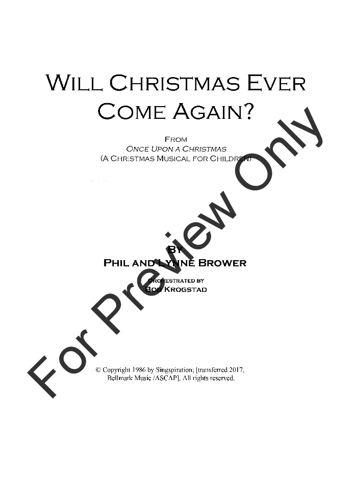 Will Christmas Ever Come Again? Thumbnail