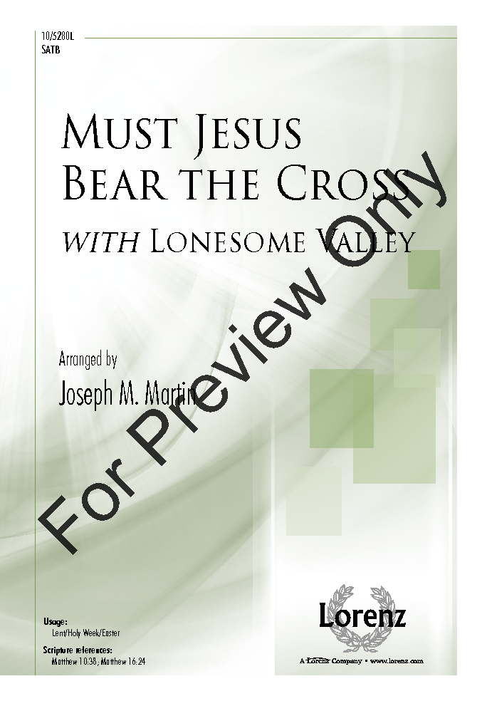 Must Jesus Bear the Cross Thumbnail