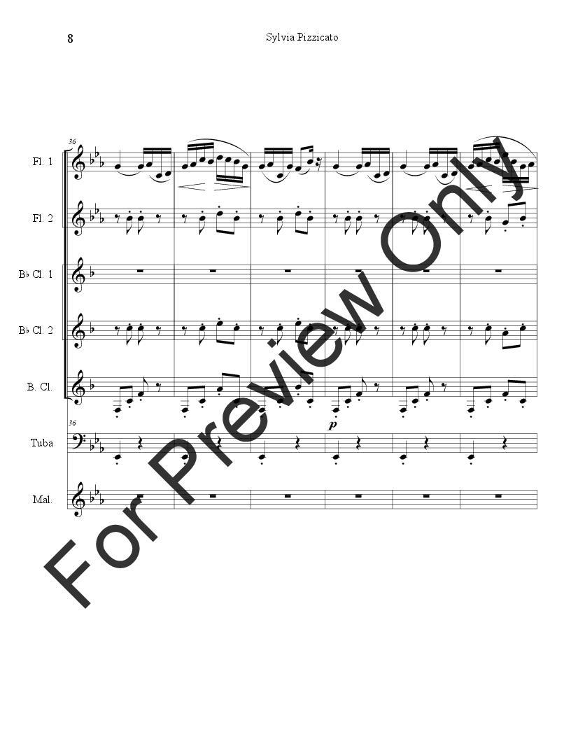 Sylvia Pizzicato Xylophone Ensemble Jw Pepper Sheet Music