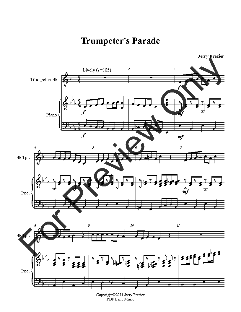 Trumpet Parade (Trumpet Solo ) by Jerry | J W  Pepper Sheet