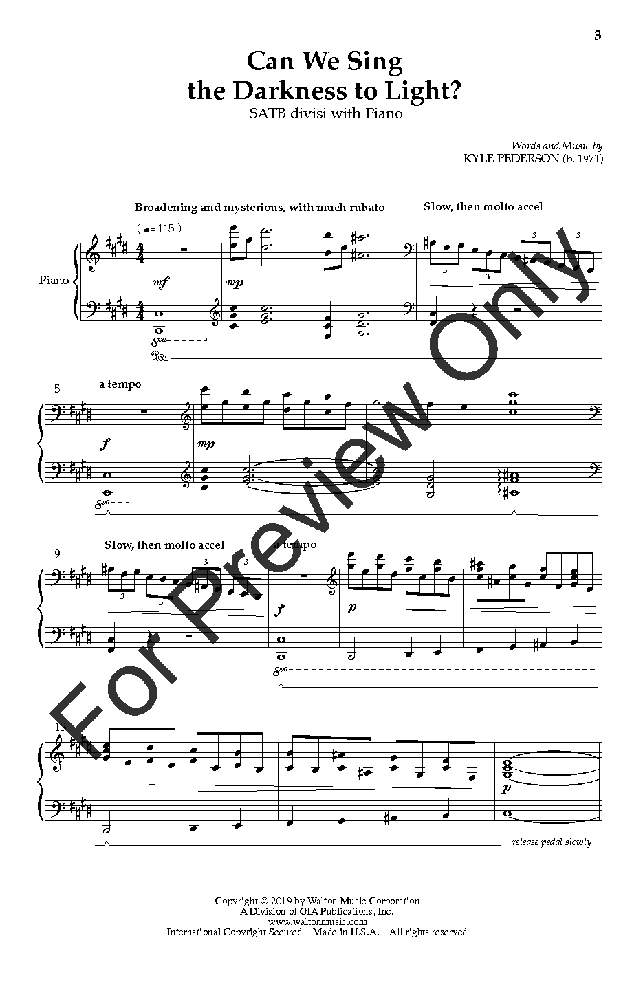 Can We Sing the Darkness to Light? (SATB ) b | J W  Pepper