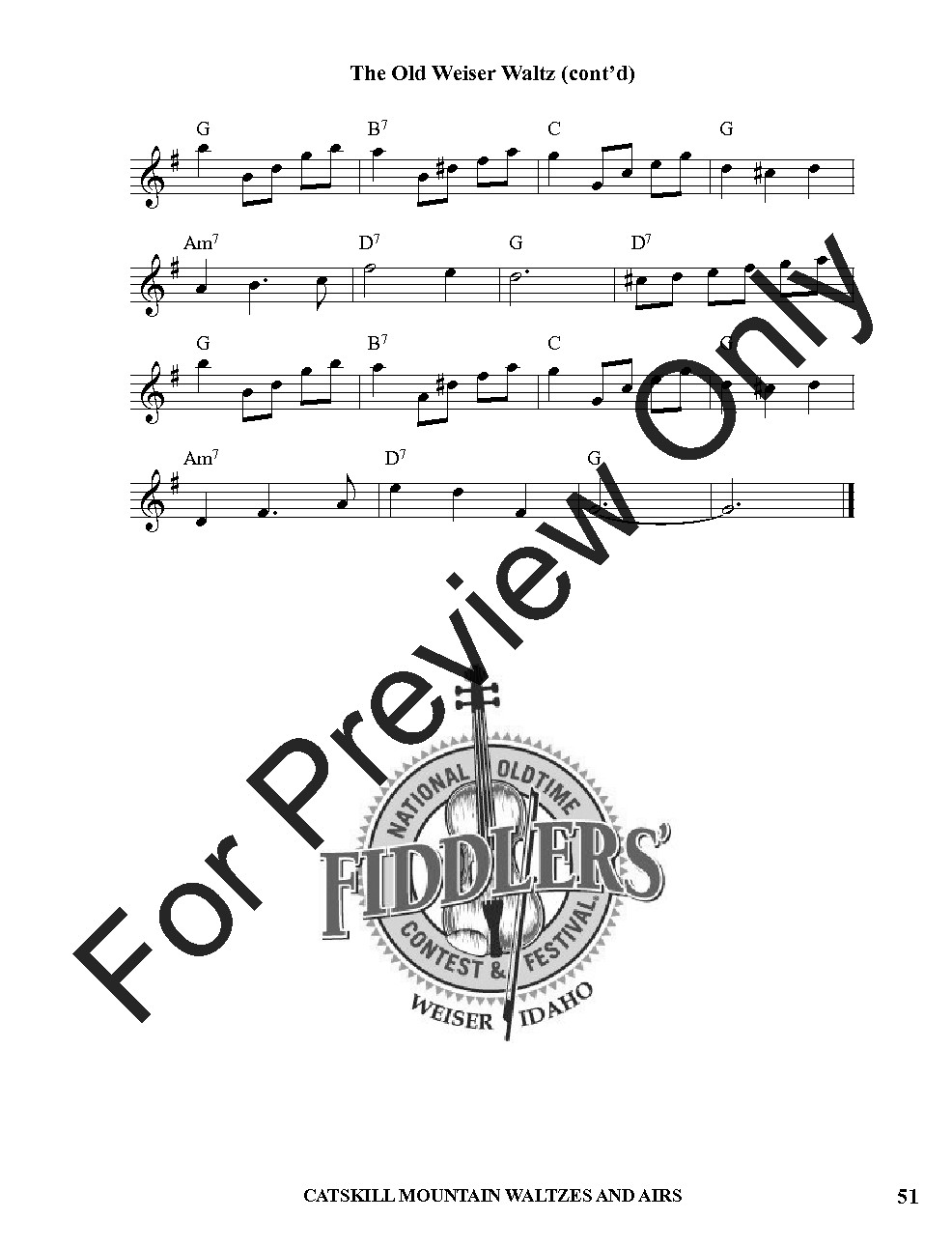 Catskill Mountain Waltzes & Airs (Violin Boo   J W  Pepper