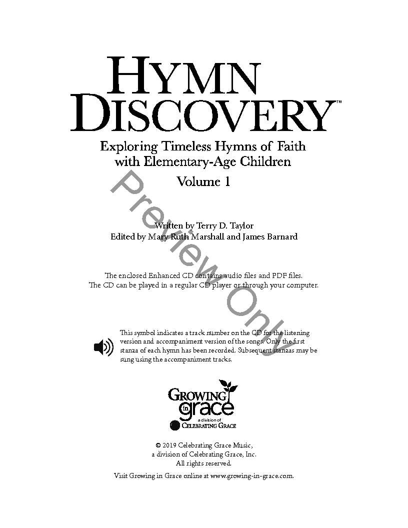 Hymn Discovery Unison Reproducible Book C J W Pepper Sheet Music