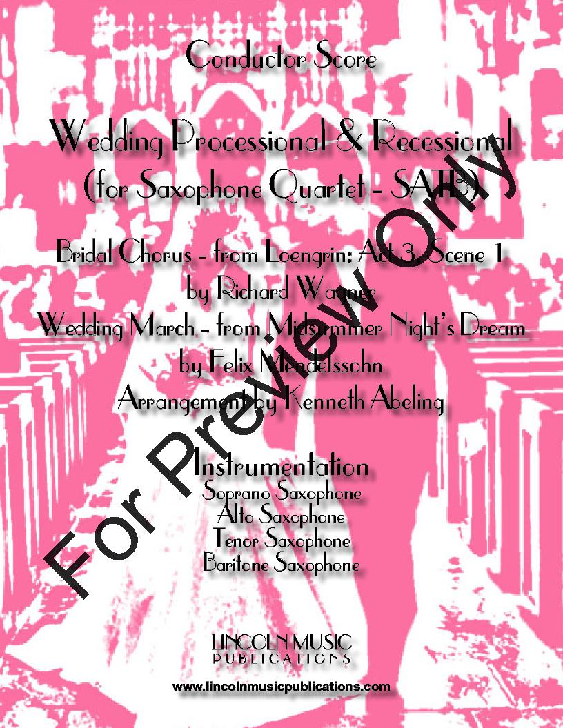 Wedding Recessional Music.Wedding Processional Recessional Saxophone Nbs J W