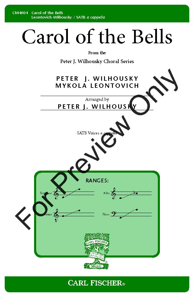 Carol of the Bells (SATB ) by Mikhail Leonto | J W  Pepper Sheet Music