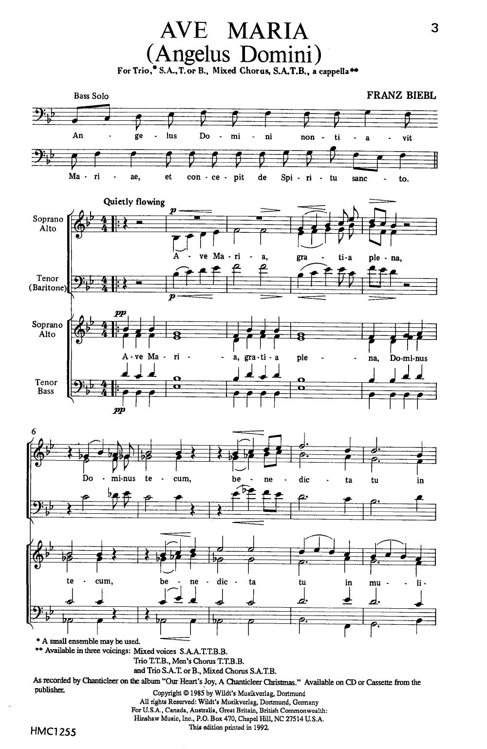 Ave Maria (SATB ) by Franz Biebl| J W  Pepper Sheet Music