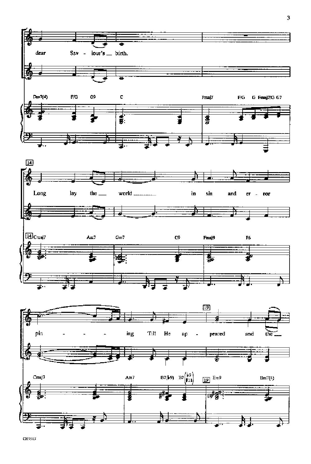 O Holy Night (SSAA ) by CHINN  J.W. Pepper Sheet Music