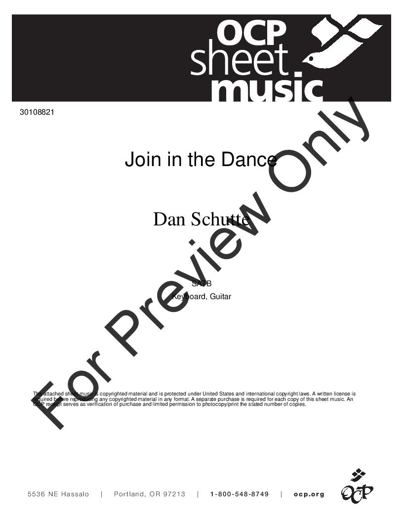 Join in the Dance (SATB ) by Dan Schutte| J W  Pepper Sheet Music