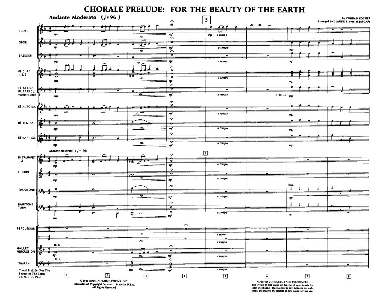 Chorale Prelude: For the Beauty of the Earth Thumbnail