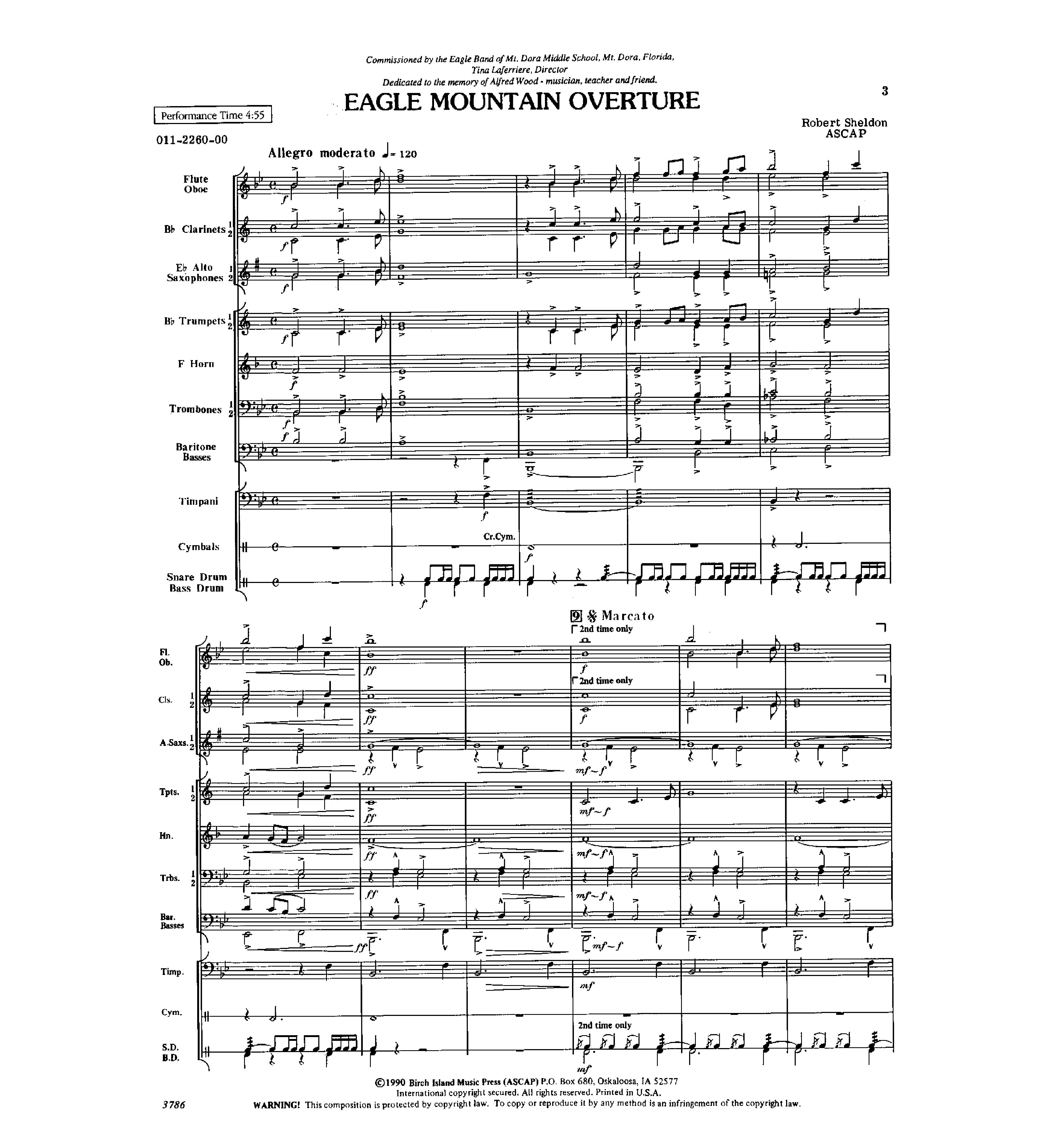 Eagle Mountain Overture by Robert Sheldon| J W  Pepper Sheet Music