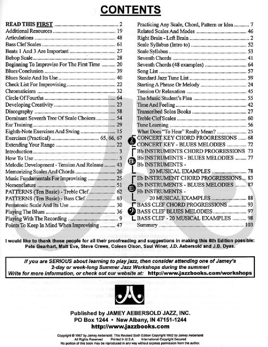 Jamey Aebersold Jazz, Volume 1 (How to Play Jaz   J W  Pepper