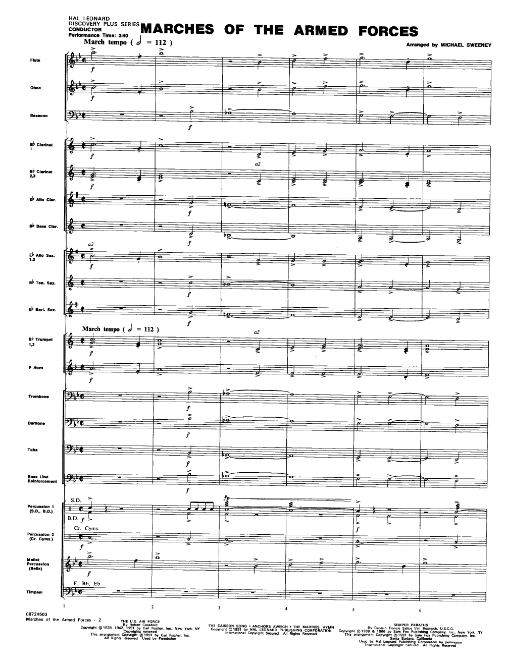 Marches of the Armed Forces arr  Michael Sweeney| J W