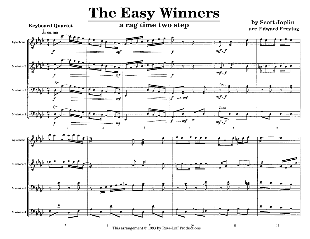 Joplins Music (The Easy Winners)