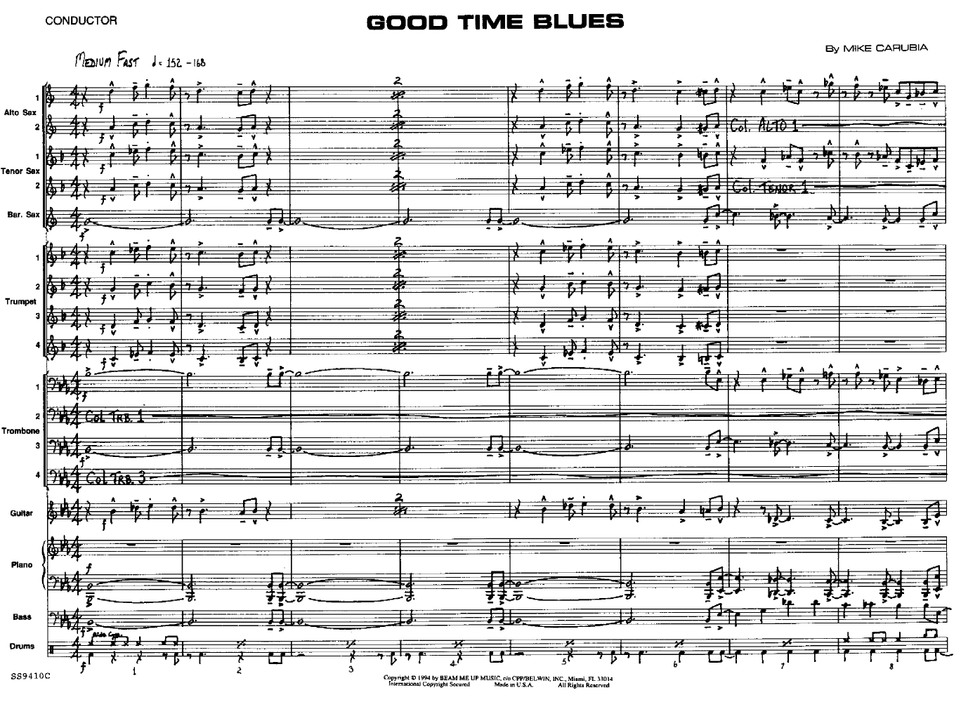 Good Time Blues by Carubia| J W  Pepper Sheet Music