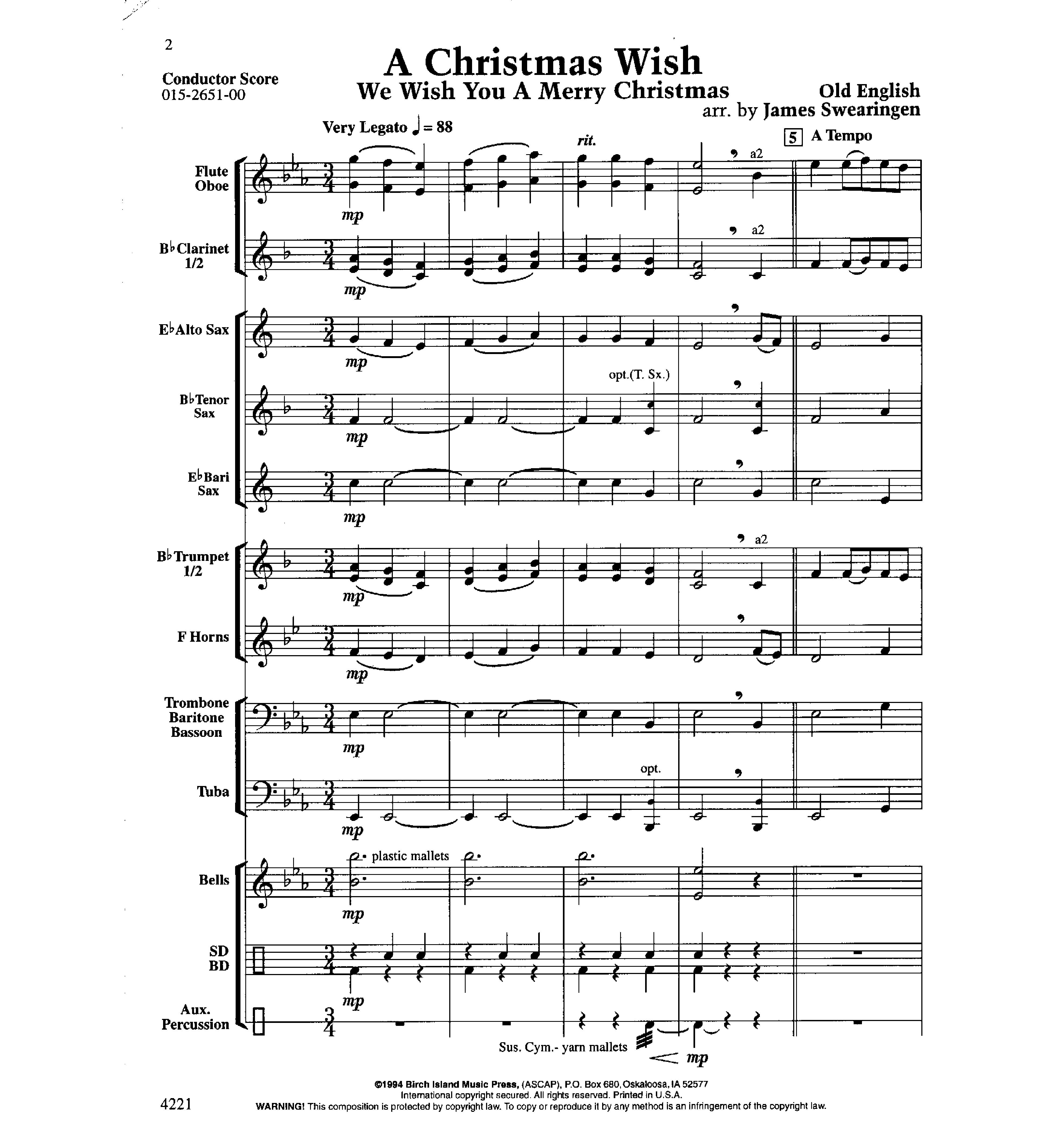 Christmas Wish By Swearingen J W Pepper Sheet Music