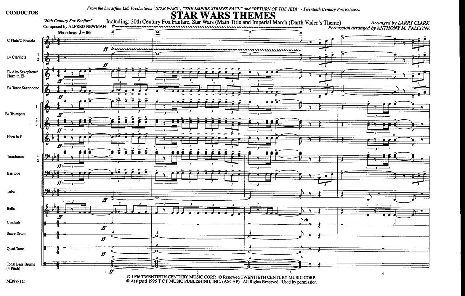 Star Wars Themes by CLARK, L| J W  Pepper Sheet Music