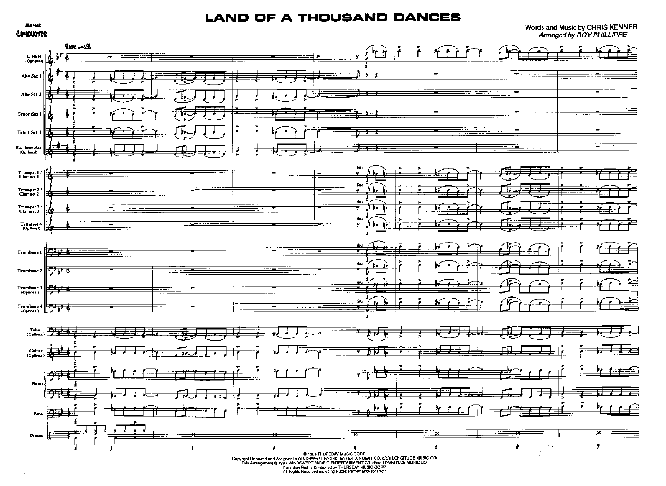 Land of a Thousand Dances Arr  Roy Phillippe| J W  Pepper