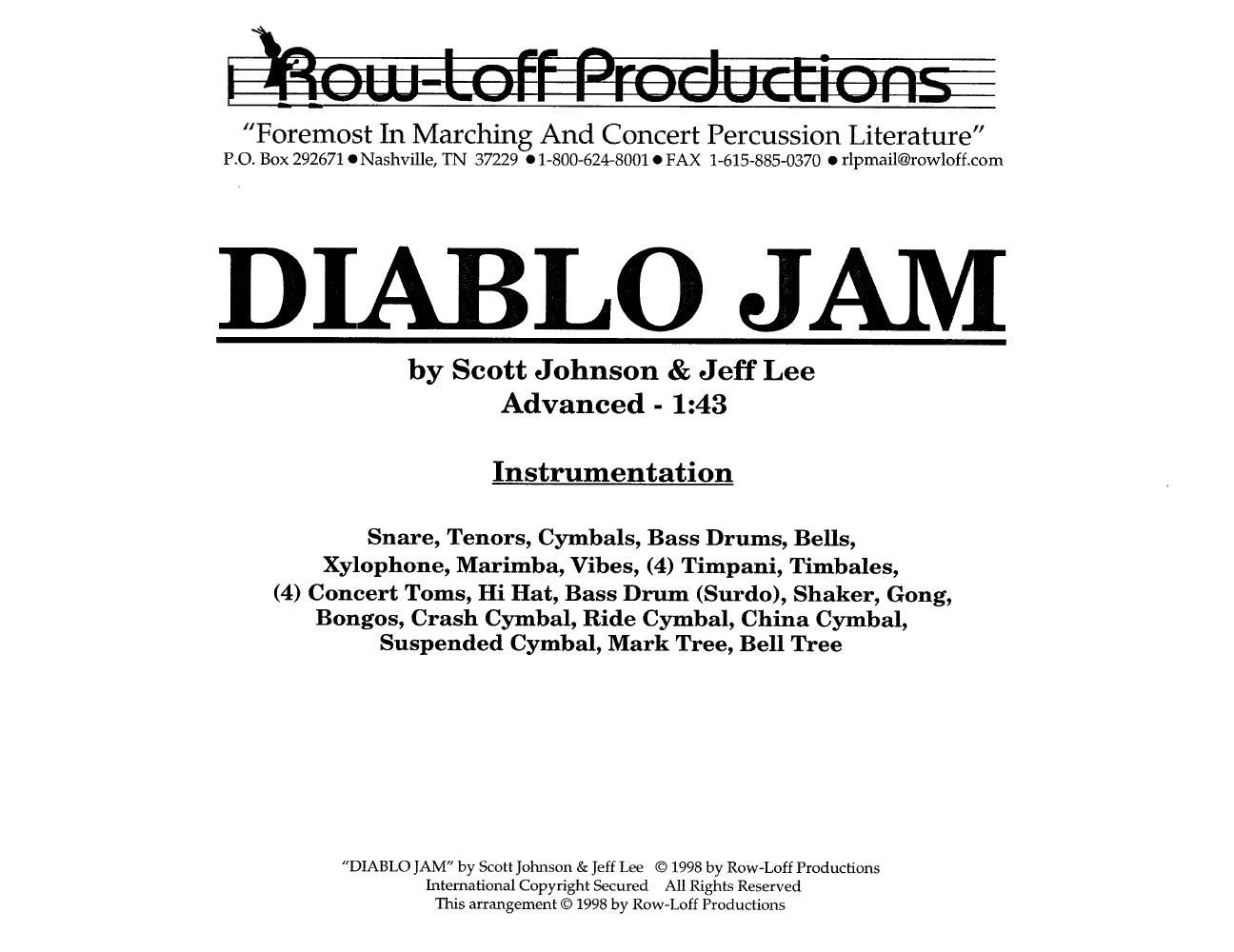Diablo Jam by Scott John   J W  Pepper Sheet Music