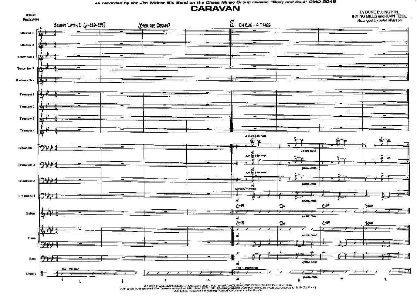 Caravan by Duke Ellington/arr  John Wasson| J W  Pepper