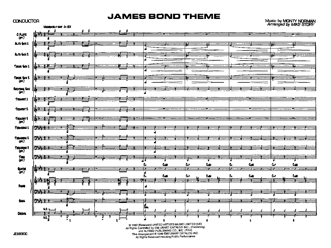 James Bond Theme by Monty Norman/arr  Mike Story| J W