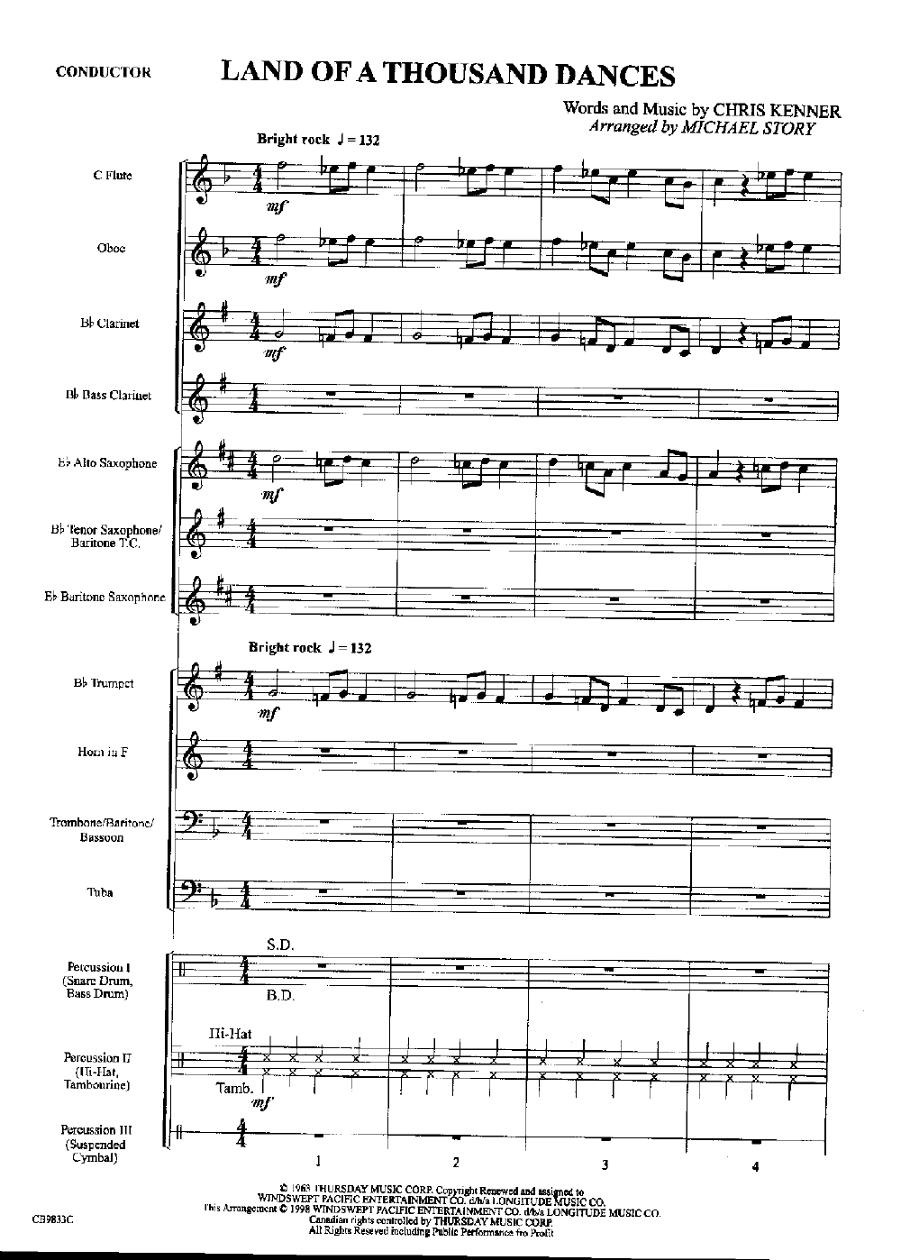 Land of a Thousand Dances arr  Michael Story| J W  Pepper