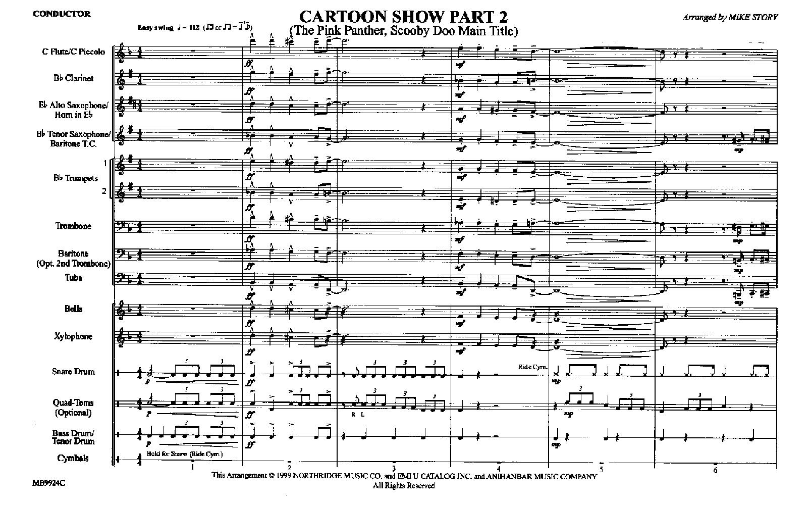 Cartoon Show Part 2 arr  Mike Story| J W  Pepper Sheet Music