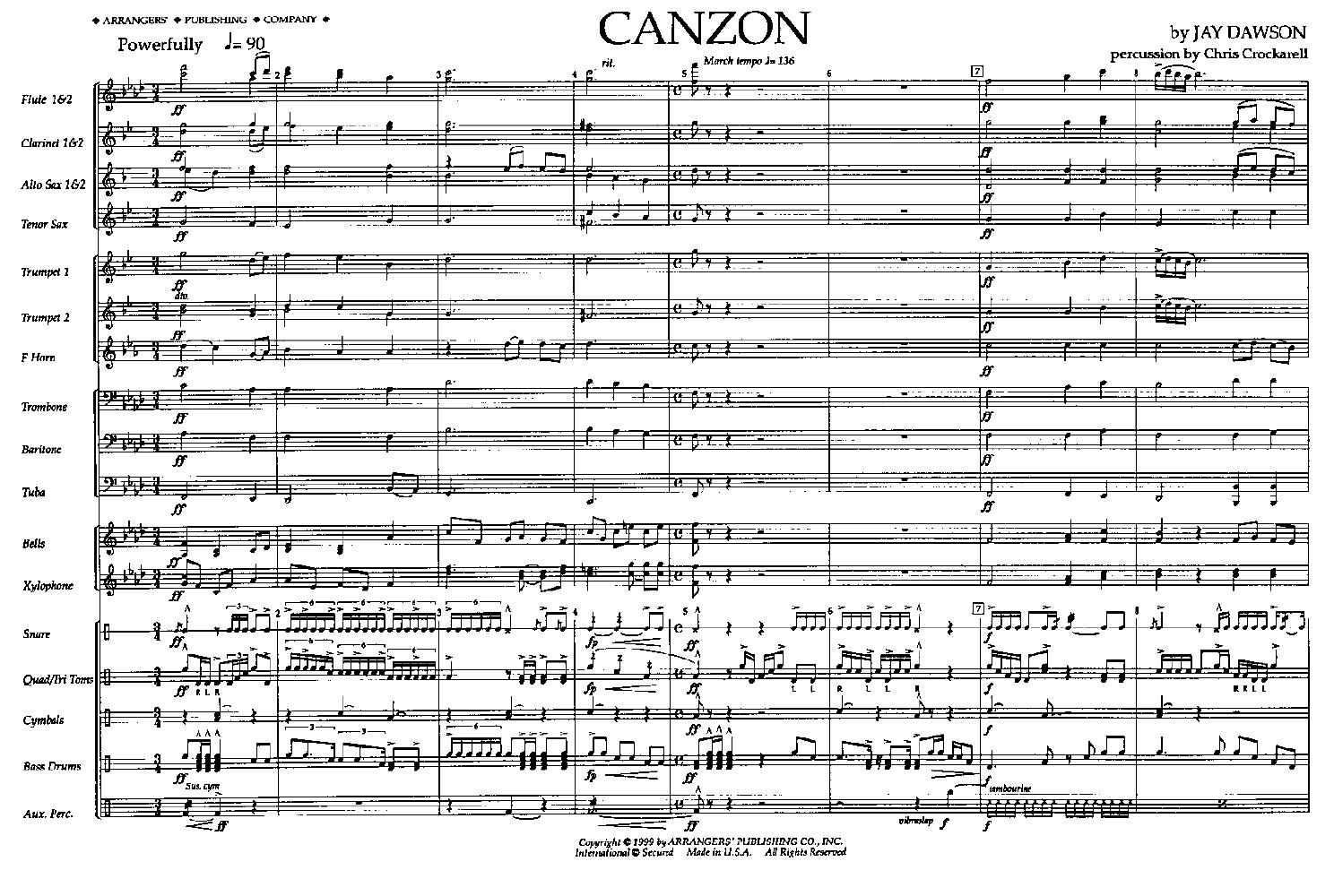 Canzon by DAWSON, J  J W  Pepper Sheet Music