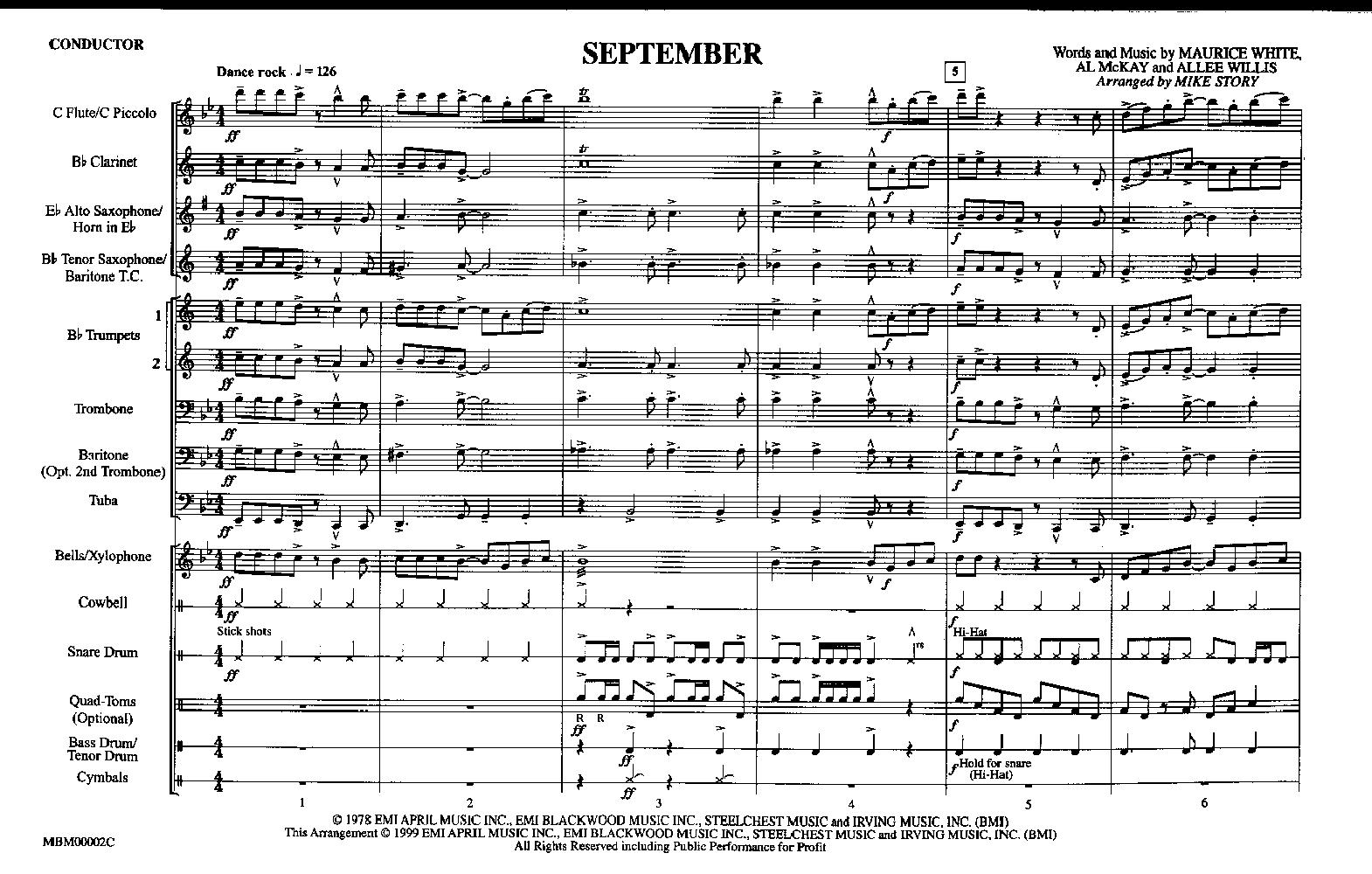 September arr  Mike Story| J W  Pepper Sheet Music