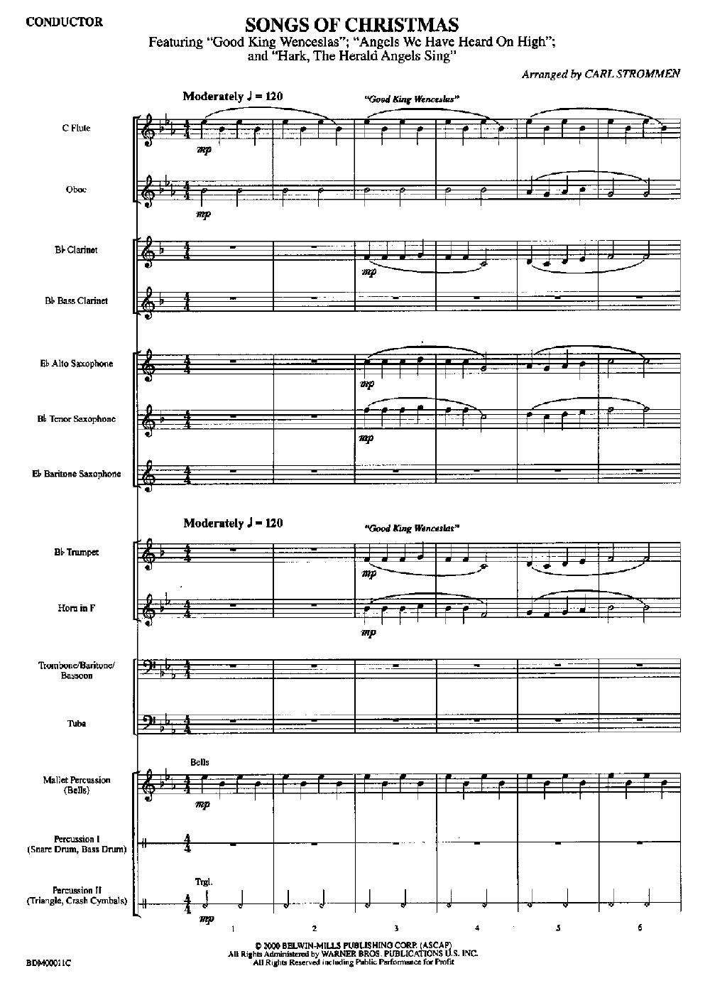 Songs Of Christmas By Strommen C J W Pepper Sheet Music