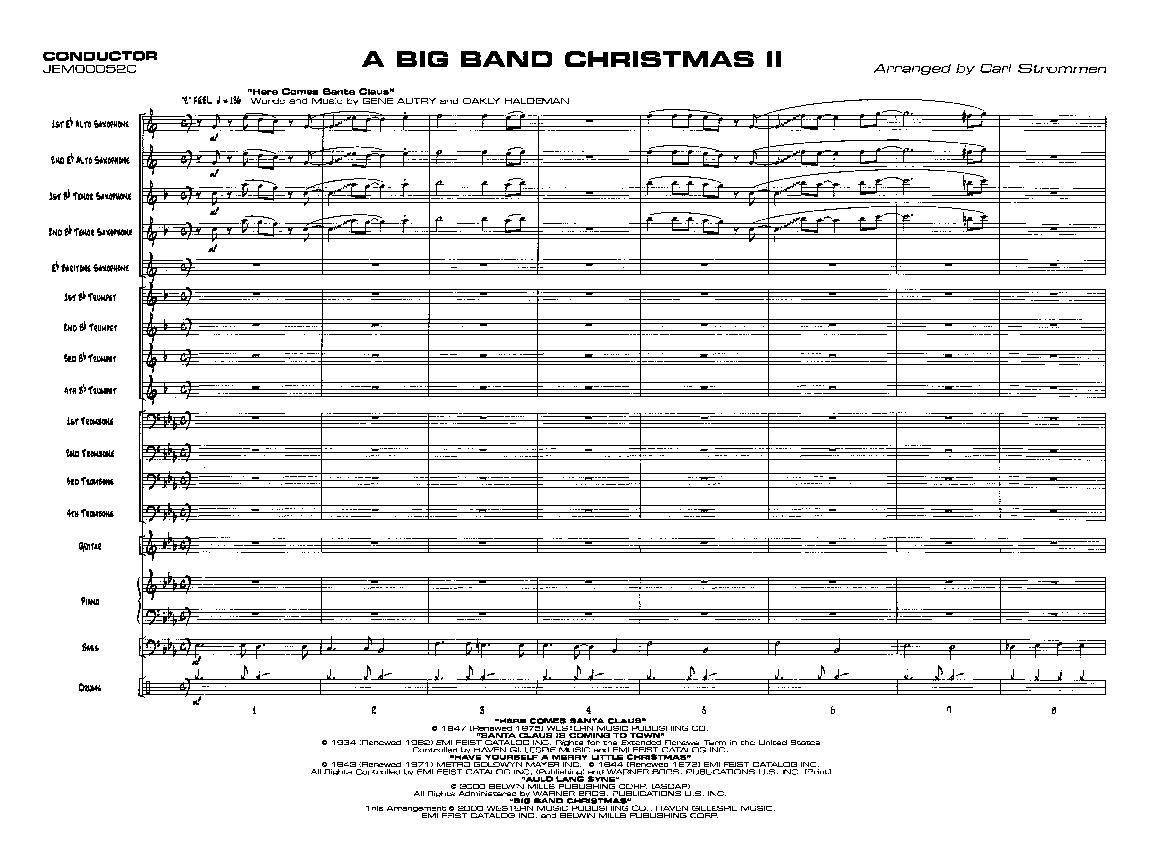 A Big Band Christmas II arr  Carl Strommen| J W  Pepper