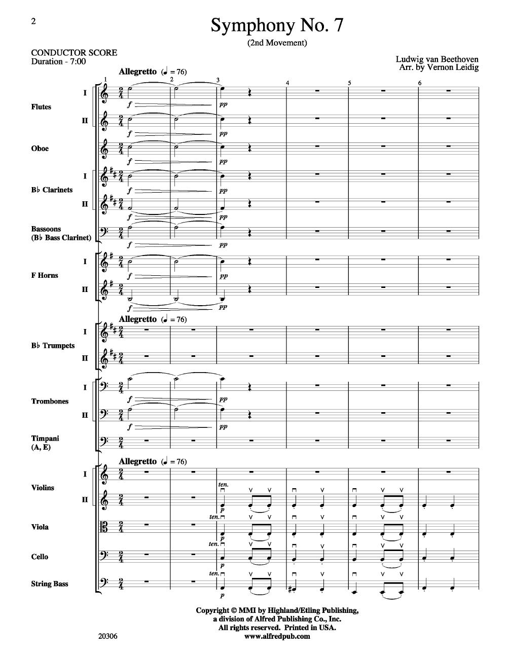 beethoven symphony no 7 second movement
