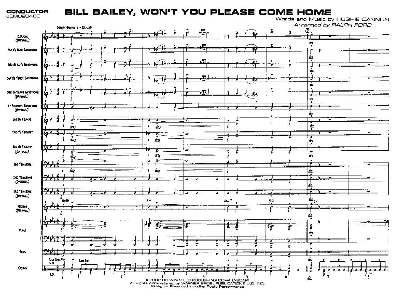 Bill Bailey, Wont You Please Come Home