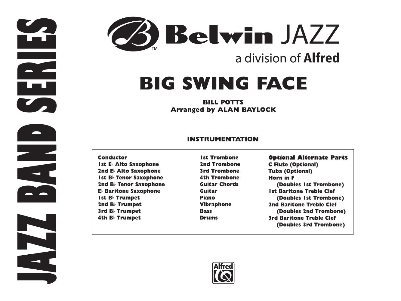 Big Swing Face by Bill Potts/arr  Baylock  J W  Pepper Sheet