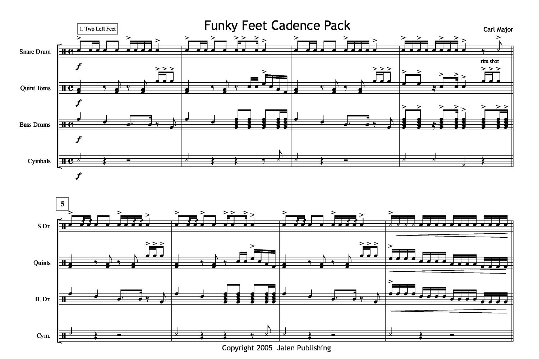 funky feet cadence pack by carl major j w pepper sheet music