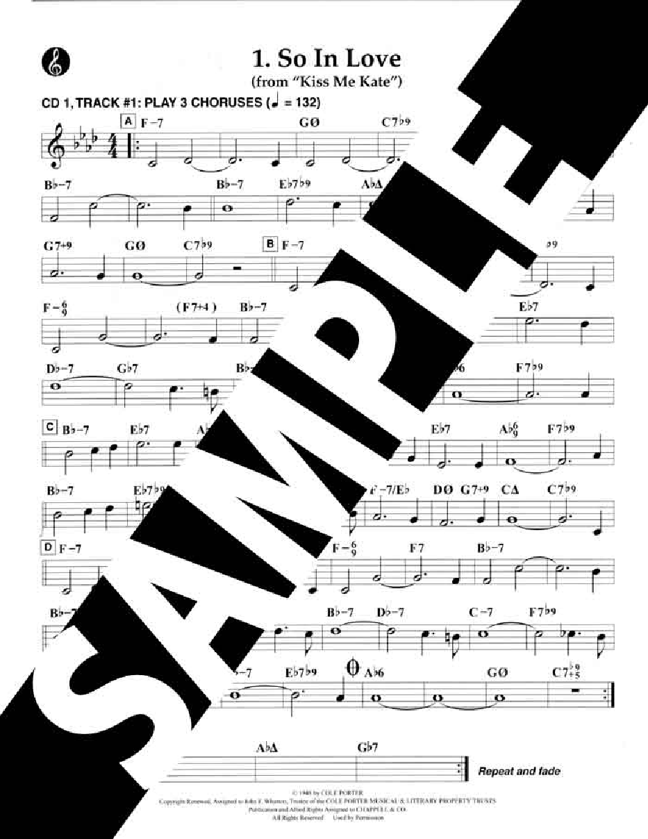 Cole Porter 21 Great Standards Sheet Music Book//2CDs All Instruments Play Along