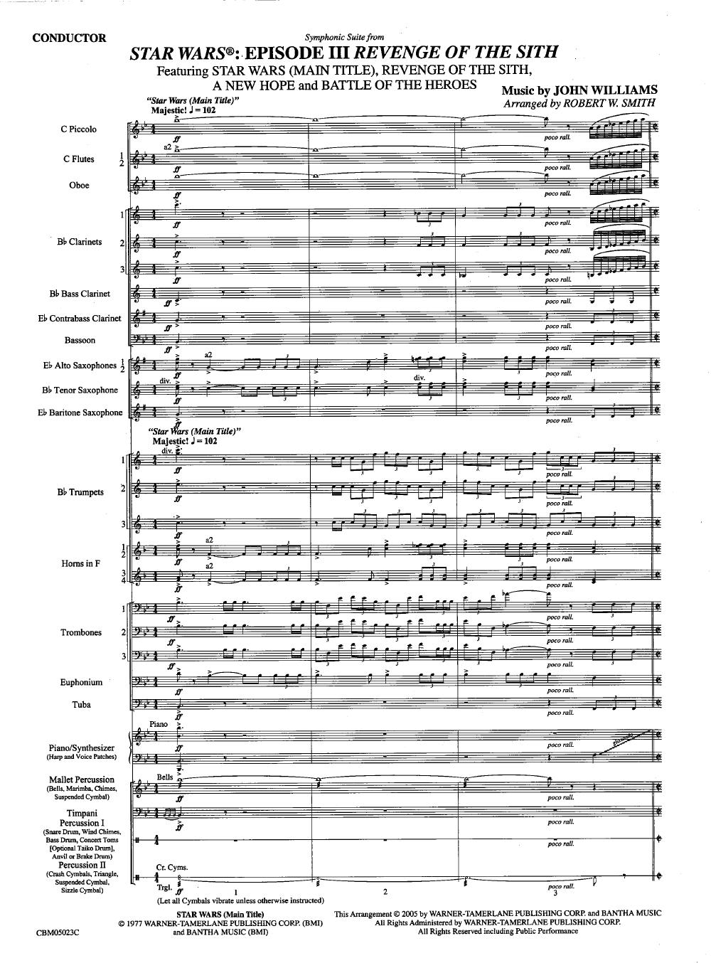 Star Wars Episode Iii Revenge Of The Sith By Joh J W Pepper Sheet Music