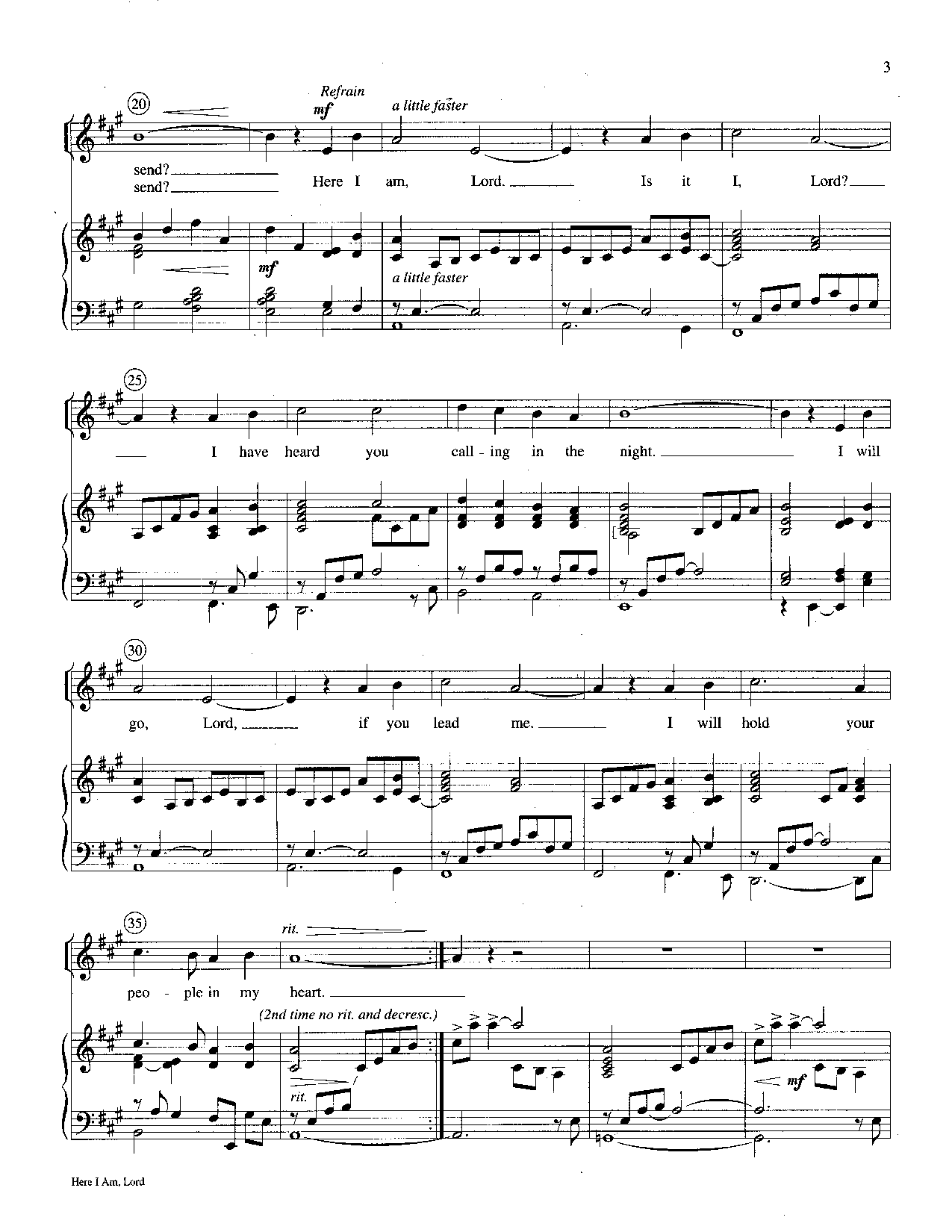 Here I Am, Lord (Medium High Solo ) by | J W  Pepper Sheet Music