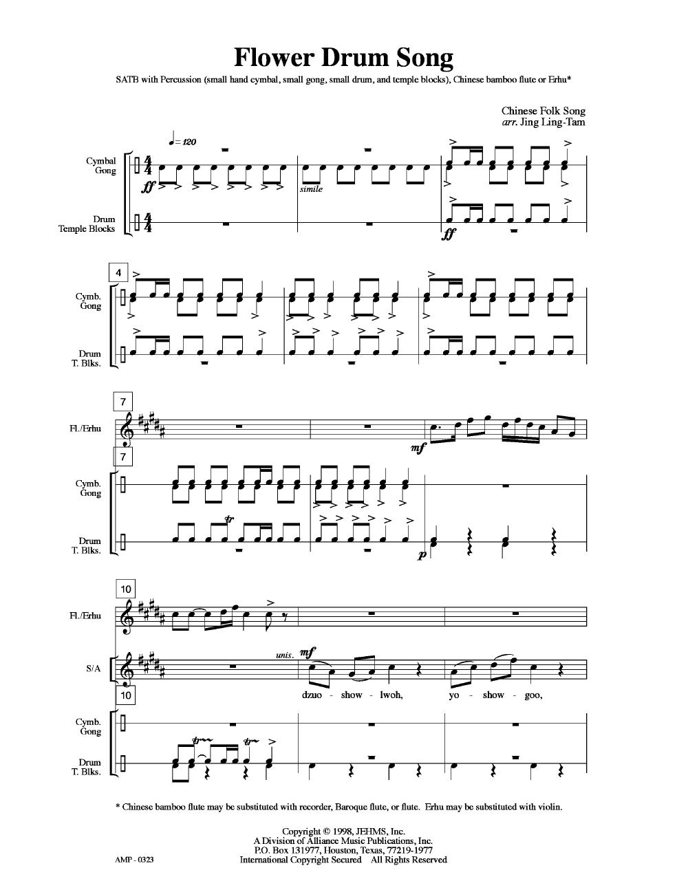 Flower Drum Song (SATB ) | J W  Pepper Sheet Music