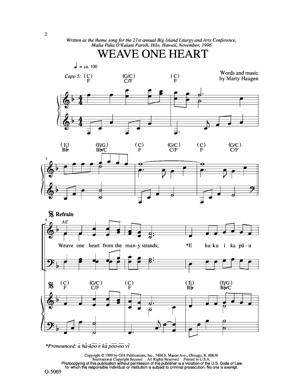 Weave One Heart (SATB ) | J W  Pepper Sheet Music