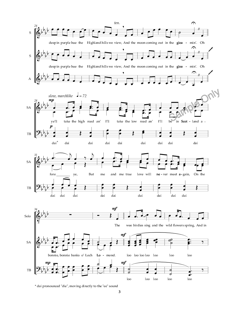Loch Lomond (SATB ) | J W  Pepper Sheet Music